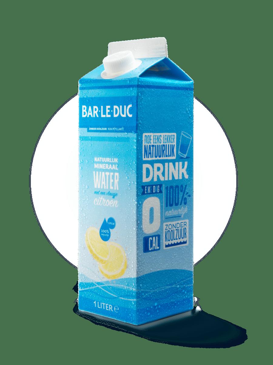 Mineraalwater + citroen
