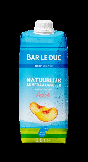 Natuurlijk mineraalwater met Perzik smaak!